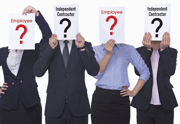 Image result for photo misclassification of independent contractor