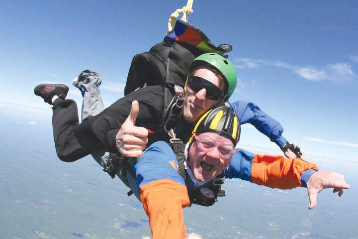 John Greene skydiving