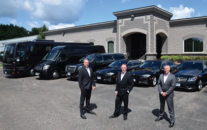 Total Luxury Limousine David Murray with sons Nick and Charlie
