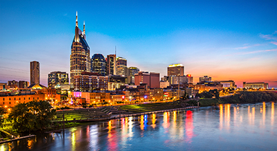 Nashville Music City Skyline